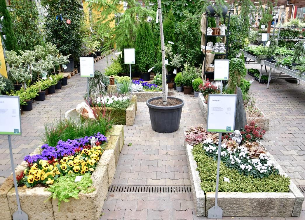 Schau-Gräber in unserem Gartencenter
